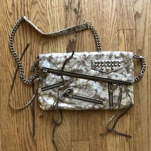 Rebecca Minkoff silver snake bag